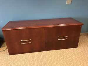Solid wood 4 drawers filing cabinet, pick up only