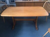Vintage Ercol Blonde Refectory Dining Kitchen Table