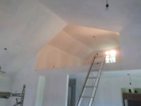 Drywall, seam filling, painting