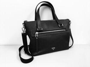 FOSSIL Sierra Satchel in Black Genuine Leather *NEW*