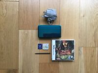 Aqua Blue 3DS + 3 Games,2GB Memory Stick,Stylus Pen + Original Charger & More!