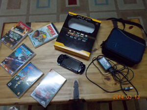 Playstation Portable Sony + accessoires + games