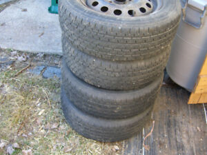 185/65/14 Uniroyal summer tires with rims. For Honda.
