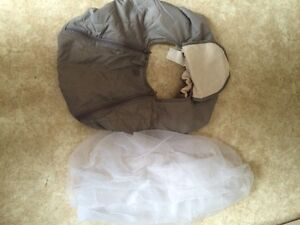 Winter car seat cover and summer bug net