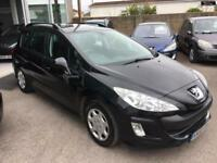 2008 PEUGEOT 308 SW S HDI Black Manual Diesel