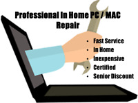 PRO PC/MAC REPAIR Do it right the first time dont hire a amateur