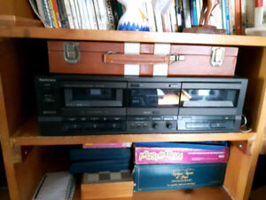 lecteur de cassettes double technics
