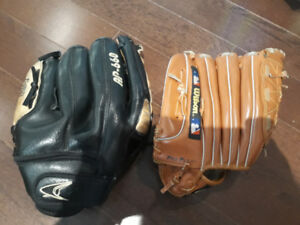 Baseball gloves - in good condition