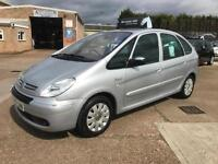 2007 Citroen Xsara Picasso 1.6i 16v 110hp Exclusive, Silver 5dr Hatch, *ANY PX*