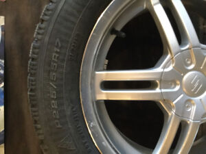 225/55/17 Goodyear studded winter tires