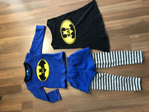 Size 2 Batman Costume 100% cotton - $8