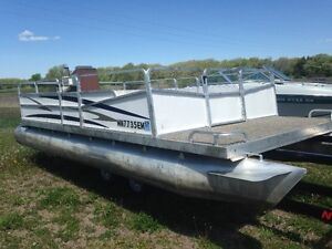 CHEAP pontoons/barges, no power