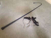 Riding whip and spurs