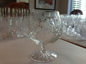Country Rose Cut Crystal Glasses and Stemware