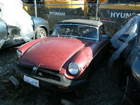 1980 MGB Roadster convertible.