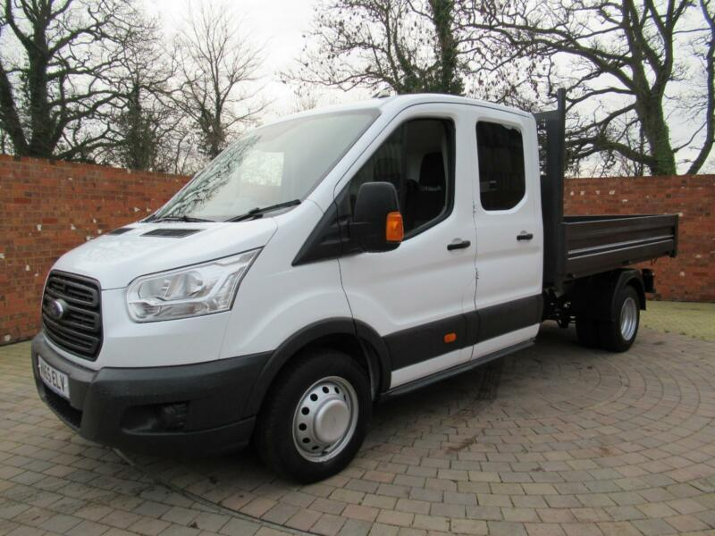 af78afdd293396 FORD TRANSIT 350 ONE WAY DOUBLE CAB TIPPER LWB 125 BHP TOOL AREA 3 SEATS