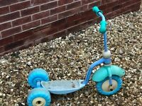 Kids three-wheeled scooter, George pig, and plastic sand pit £5 each