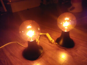 Vintage 1960 Lampes Fat Albert Orange Très Rare fonctionnelle