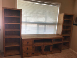 Solid Pine BookShelf and TV Stands/Santa Fe Rustico Style