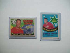 OLD  GORDIE HOWE  HOCKEY  CARDS