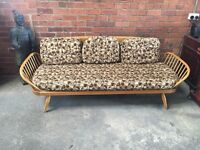 ERCOL Retro Daybed Sofa in Blonde - New Webbing - UK DELIVERY