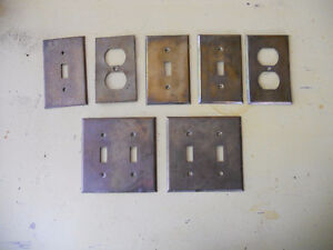 Antique Electrical switch face plates
