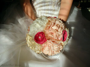 Coffee Filter Bridal Bouquet/ Vintage Wedding/ Blush Bouquet Belleville Belleville Area image 1