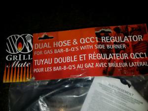 BRAND NEW!! BBQ GAS REGLATOR DUAL HOSE
