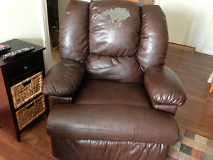 Leather Recliner with Heat & Massage