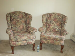 Living room wing back chairs