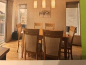 Ensemble salle à manger avec rallonge intégrée