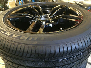 Acyrlic Black BMW Summer Set of Tires and Rim 17""