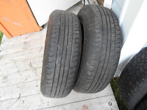 -------4--------205 X 70 X 15 IN  TIRES AND RIMS----------