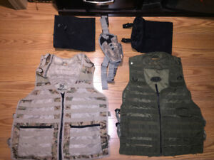 Tactical vest and mollly attachments