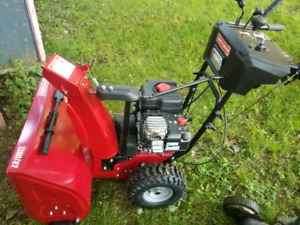 Like new 27inch snowblower. Used 4/5 times tops.