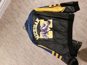 Michigan Wolverines Leather Jacket