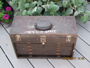 Vintage Union Super Steel 7 Drawer machinist Tool Box