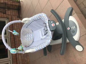 Baby rocker $30.  Used 2 times