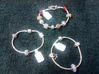 Pandora and Chamilia charm bracelets