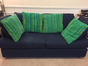 Moving Sale - Navy Blue pull-out couch