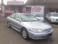 2002 Honda accord EXL.  4 Cyl Manual