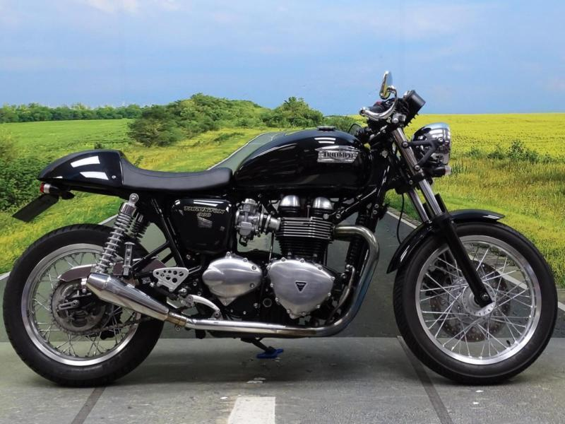 Triumph Thruxton 2014 Stunning Cafe Racer Aftermarket Exhausts