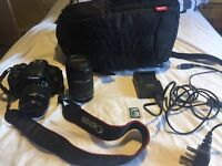 Canon EOS 600d camera with 18-55mm and 55-250mm lense