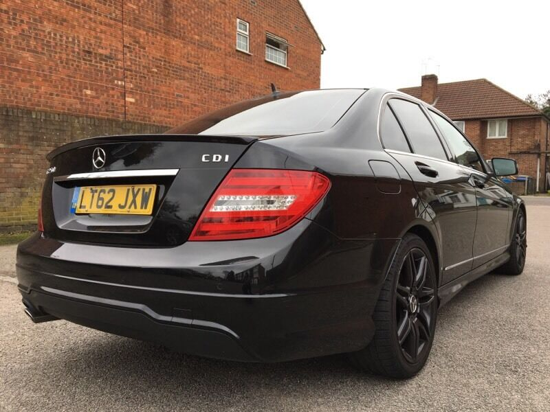 2013 62 Mercedes Benz C250 2 2 Amg Sport Plus Black Automatic In