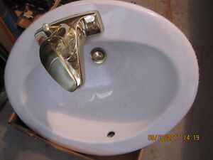 Very Nice and complete Clay Bathroom sink with Brass Tap