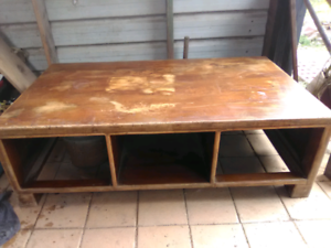 Large solid timber coffee table with drawers Wardell Ballina Area Preview