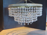Crystal Chandeliers. We have 2 of these plus some single crystal