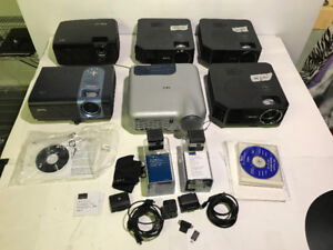 (8) ASSORTED USED PROJECTORS TO FIX OR FOR PARTS - FJN