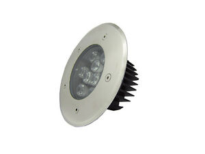 2pcs 9w spot enterre led lampe encastrable exterieur jardin terrasse ip67 ebay. Black Bedroom Furniture Sets. Home Design Ideas