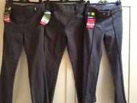 BHS Age 8 three pairs of grey school trousers